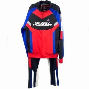 Black Pyramid Jogging Suit Red Black Blue Large